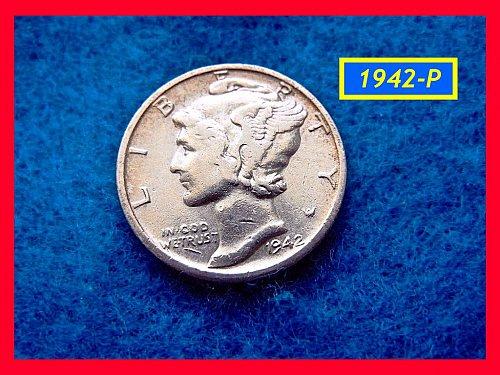 1942-P   Mercury • Circulated   (#3432)
