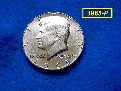 """1965   Kennedy Half Dollar •• """"BU"""" •• (40% Silver)  (#1609)"""
