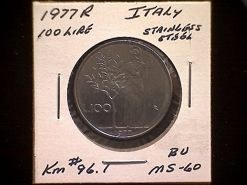 1977R ITALY ONE HUNDRED LIRE