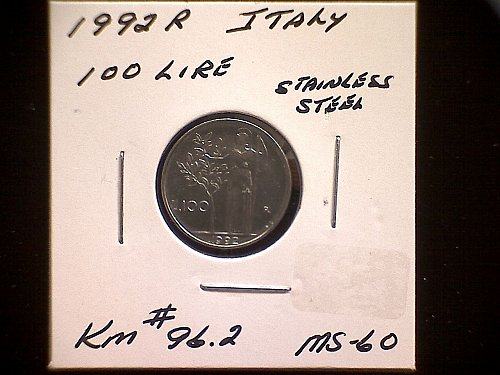 1992R ITLAY ONE HUNDRED LIRE