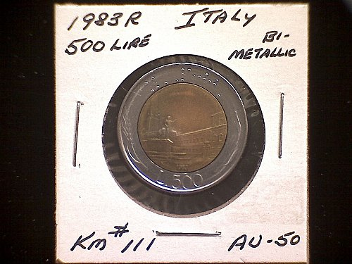 1983R ITALY FIVE HUNDRED LIRE