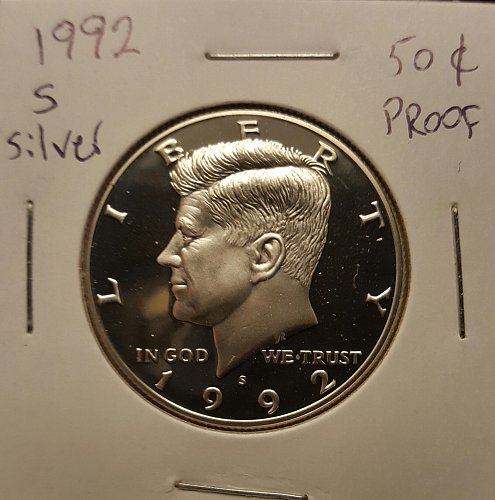 1992 S Kennedy half dollar Silver proof