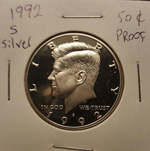 1992 S Kennedy half dollar Silver proof