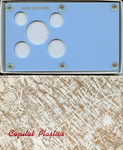 """Capital Plastics """" Birthyear Coins"""" 5-Coin Holder, Baby Blue"""