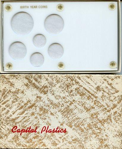 "Capital Plastics "" Birthyear Coins"" 6-Coin Holder, Small Dollar White"