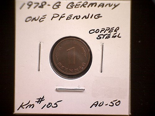 1978G GERMANY ONE PFENNIG