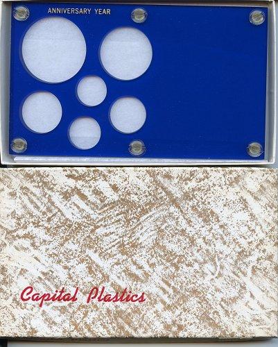 "Capital Plastics ""Anniversary Year"" 6-Coin Holder, Large Dollar Blue"