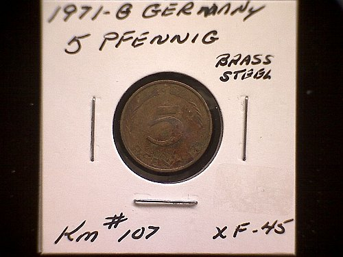 1971G GERMANY FIVE PFENNIG