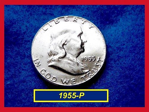 1955-P  Franklin Half Dollar – Dazzling Mint State BU Coin •• (#1606)•