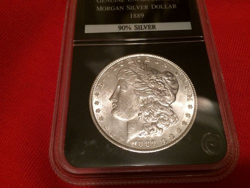 1889 Morgan Silver Dollar uncirculated graded by PCS great detail