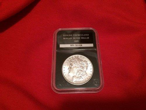 1889 Morgan Silver Dollar uncirculated graded by PCS great detail