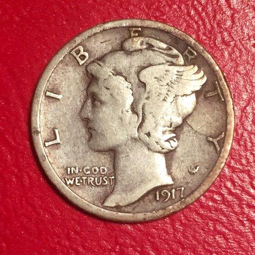 1917S Mercury Dime