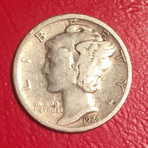 1924S Mercury Dime