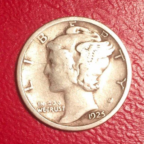 1925S  Mercury Dime