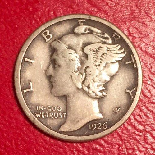 1926D Mercury Dime