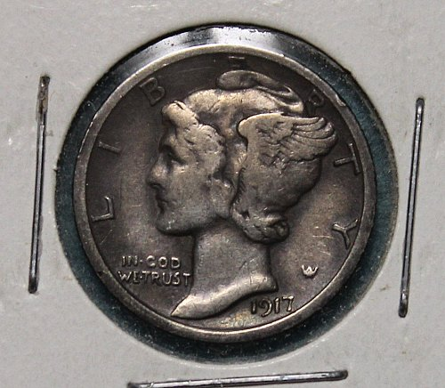 1917 S Mercury Dime