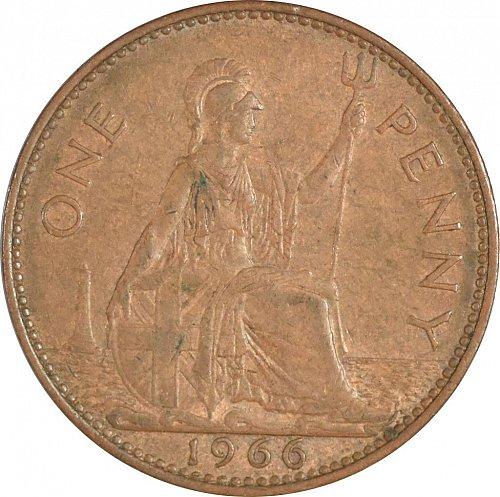 United Kingdom, 1966, One Penny, VF Brown, (Item 374)
