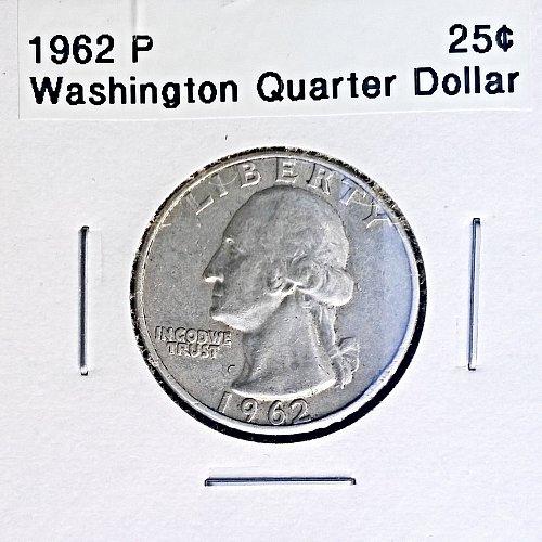 1962 P Washington Quarter Dollar