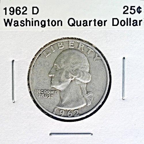 1962 D Washington Quarter Dollar