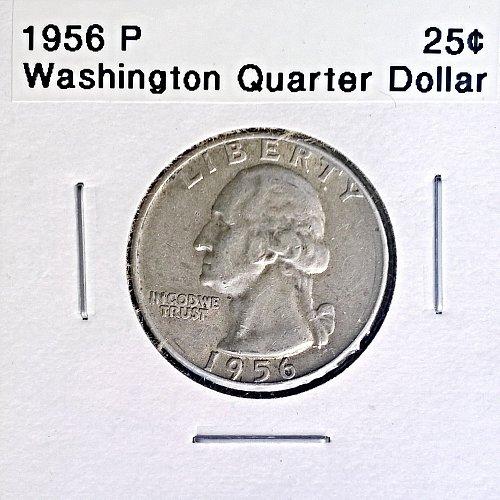 1956 P Washington Quarter Dollar
