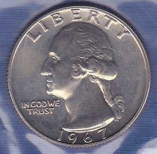 1967 P Washington Quarter