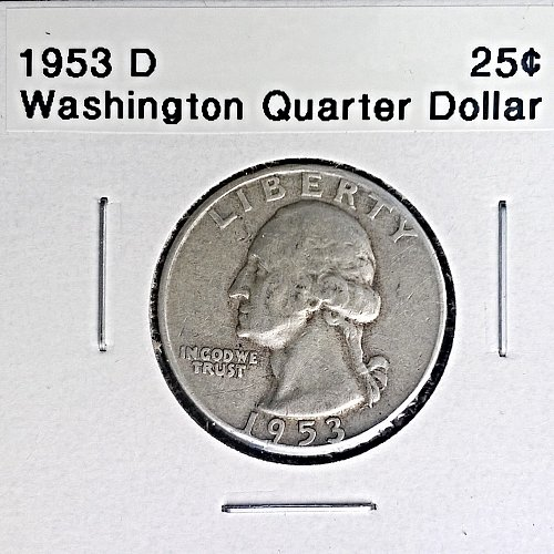 1953 D Washington Quarter Dollar