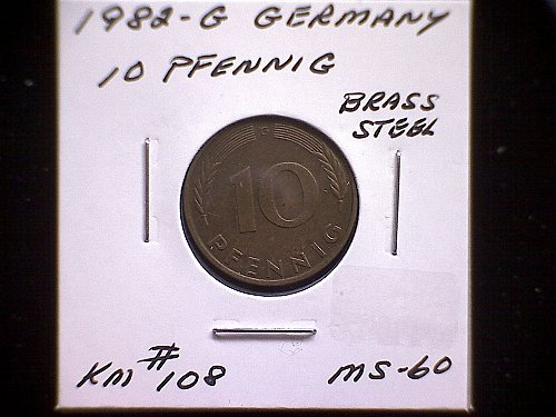1982 G GERMANY TEN PFENNIG