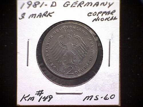1981 D GERMANY TWO MARK