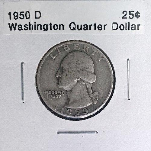 1950 D Washington Quarter Dollar