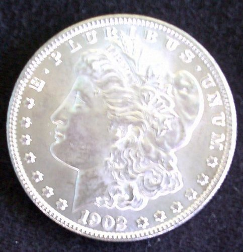 1902 O Morgan Silver Dollar Au 58