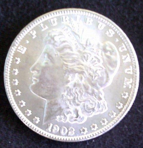 1902 O Morgan Silver Dollar Au 58