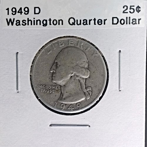 1949 D Washington Quarter Dollar