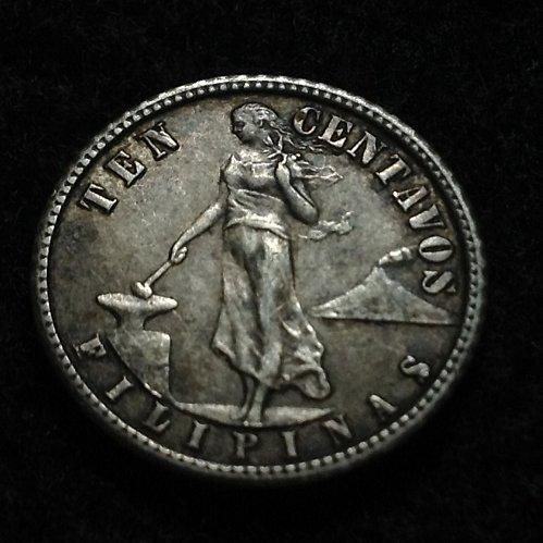 Philippines 1908 S 10 centavos
