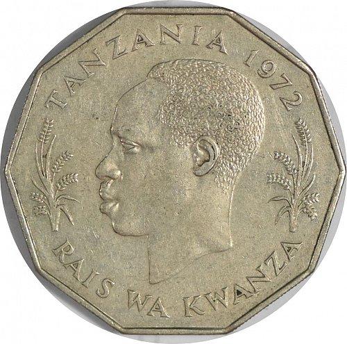 Tanzania, 5 Shilingi, 1972, XF, (Item 376)