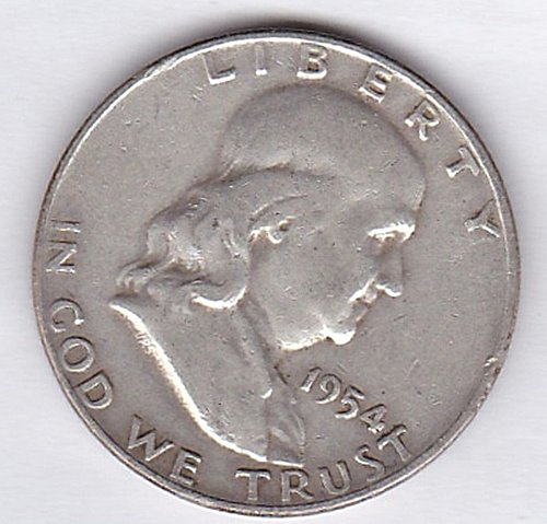 "1954 ""D""  Franklin Half Dollar 50C *** (278)"