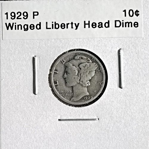 1929 P Winged Liberty Head Dime