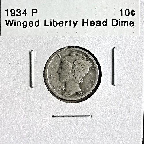 1934 P Winged Liberty Head Dime