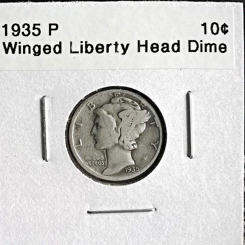 1935 P Winged Liberty Head Dime - 4 Photos!