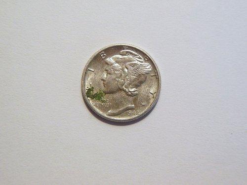 1942-P Silver Mercury Dime