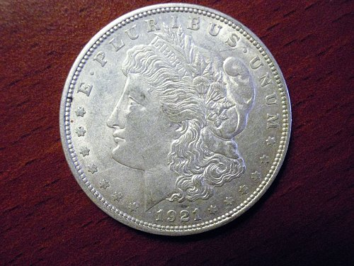 1921-D Morgan Dollar - AU - #M19