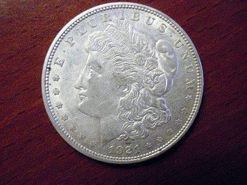 1921-D Morgan Dollar - AU - #M19