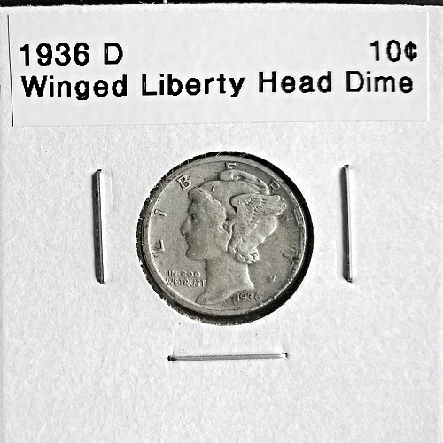 1936 D Winged Liberty Head Dime