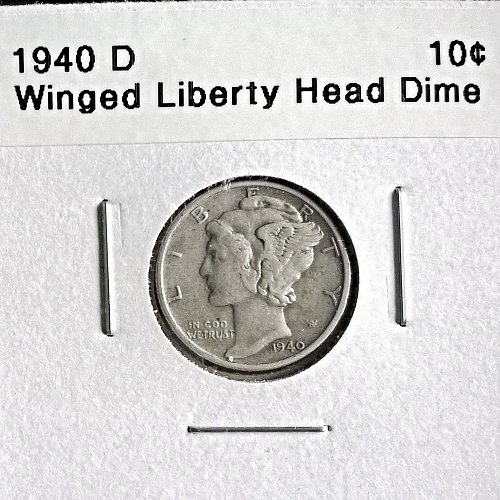 1940 D Winged Liberty Head Dime