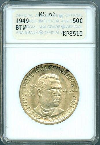 1949 Booker T. Washington ANACS MS63 Commemorative Half Dollar