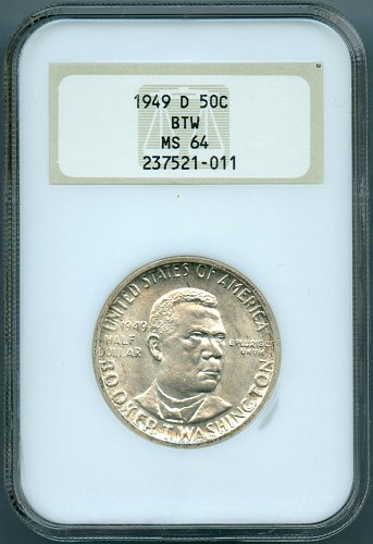 1949-D Booker T. Washington NGC MS64 Commemorative Half Dollar
