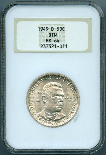 1949-D Booker T. Washington NGC MS64 Commemorative Half Dollar