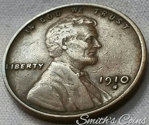 1910 S/S Lincoln Wheat Cent - VF
