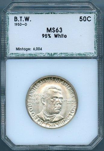 1950-D Booker T. Washington PCI MS63 Commemorative Half Dollar