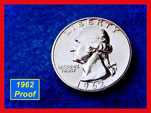 1962 Cameo Proof Washington Quarter • • •  Gem Proof ••  (#2292a)