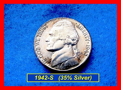1942-S SILVER WAR NICKEL    (#6294)